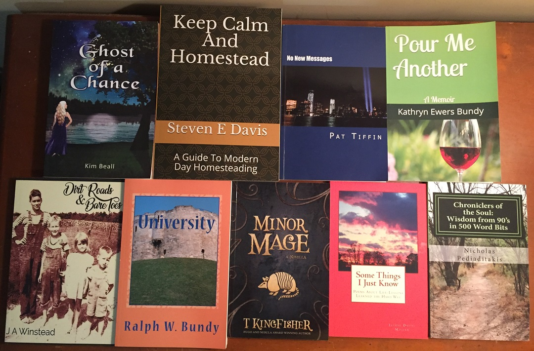 random selection of books by North Carolina authors